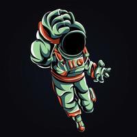 ilustración de arte espacial astronauta vector
