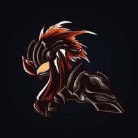ilustración de arte ninja vector