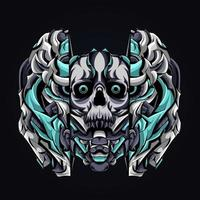 skull mecha artwork illustration vector