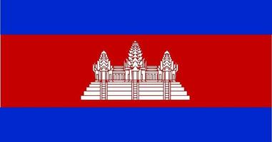 Cambodia Flag Vector - Official Cambodia Flag With Original Color and Size Proportion