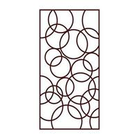 diseño de patrón de corte por láser vector