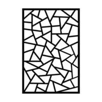 diseño de patrón islámico cortado con láser vector