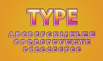 text type font alphabet vector