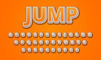 jump font alphabet vector