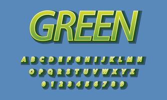 text green font alphabet vector