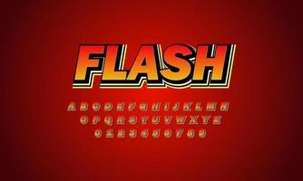 alfabeto de fuente flash vector