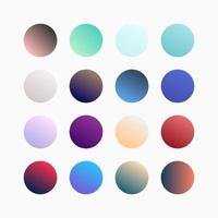 Trendy Colorful Gradient Swatches Set vector