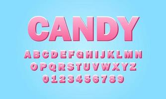 candy font alphabet vector
