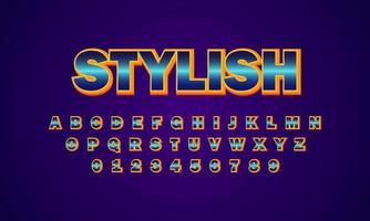 Stylish font alphabet vector