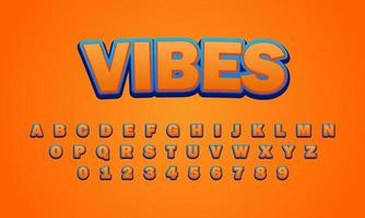 vibes font alphabet vector