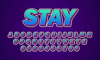Stay font alphabet vector
