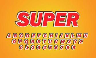 Super font alphabet vector