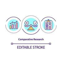 Comparative research concept icon vector