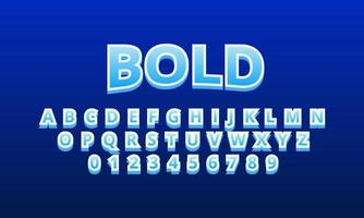 bold font alphabet vector