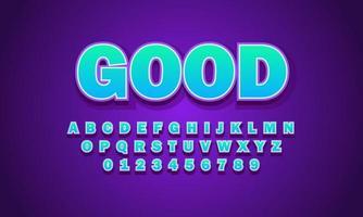 buen alfabeto fuente vector