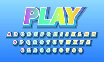 jugar alfabeto fuente vector