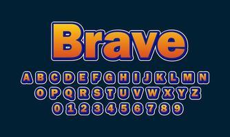alfabeto fuente valiente vector