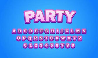 Party font alphabet