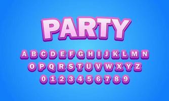 Party font alphabet vector