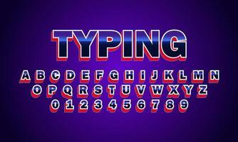 escribiendo el alfabeto de la fuente vector