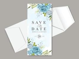 Beautiful save the date invitation card template vector
