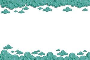nube con vector de ilustración de cielo. color pastel y tono degradado. plantilla de ilustración mínima para tarjeta, sitio web, papel tapiz para niños, fondo e impresión.
