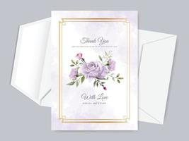 Wedding invitation thank you card template vector