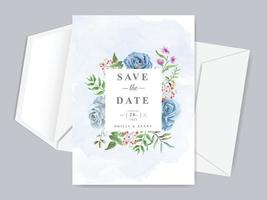 Wedding save the date invitation card template vector