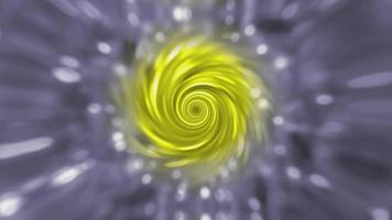 Abstract Rotating Textured Yellow-Gray Background. video