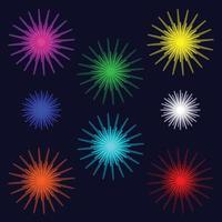 vector bright colorful layered fireworks
