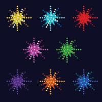 vector bright colorful fireworks with stars