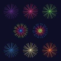 vector bright colorful fireworks