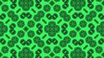 strukturierter leuchtend grüner Kaleidoskophintergrund.