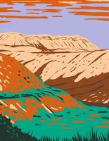Fossil Butte National Monument Located West of Kemmerer Wyoming WPA Poster Art vector