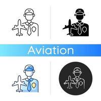 Aviation security icon vector
