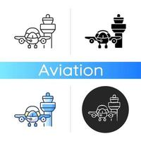 Flight dispatch icon vector