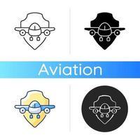 icono de seguridad de la aviación vector