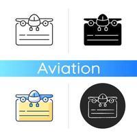 Pilot license icon vector