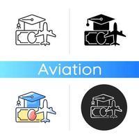 Pilot training financing icon vector