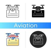 Drone license icon vector