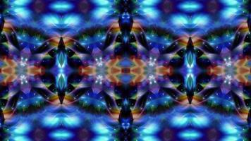 fundo de néon em movimento simétrico escuro. video