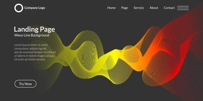 Fondo de curva de onda abstracta vector