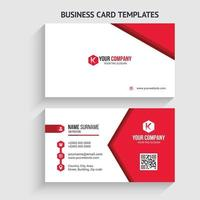 plantilla de tarjeta de visita moderna. diseño de papelería, diseño plano, plantilla de impresión, ilustración vectorial. vector