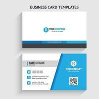 Modern Business Card Template. Stationery Design, Flat Design, Print Template, Vector illustration.