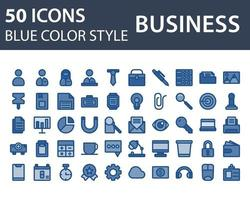 Set of Business icon in Blue Outline Color style isolated on white background. for your web site design, logo, app, UI. Vector graphics illustration and editable stroke. EPS 10.