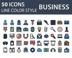 Set of Business icon in line and fill style isolated on white background. for your web site design, logo, app, UI. Vector graphics illustration and editable stroke. EPS 10.