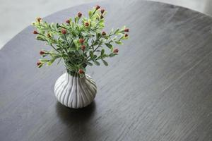 Artificial flowers on a table