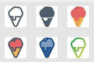 ice cream icon set vector