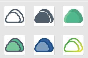 bush icon set vector