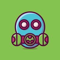 Ilustración de icono de vector de máscara. estilo de dibujos animados plano adecuado para página de destino web, banner, pegatina, fondo.